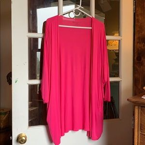 Lane Bryant cover-up wrap Fuscia w/ pockets